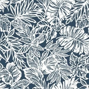 Roommates Grasscloth Blue Vinyl Peelable Wallpaper Covers 28 18 Sq Ft Rmk11314wp The Home Depot Peel And Stick Wallpaper Peelable Wallpaper Tropical Leaves