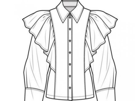 70 Super Ideas For Fashion Sketches Shirt Technical Drawings – fashion