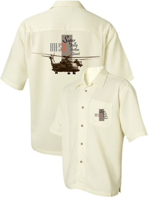 Men's Airplane Shirt-HH-53 Super Jolly Green Giant-Sikorsky-Military Helicopter