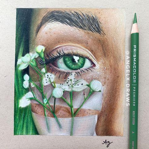 Eye Art, Art Drawings Simple, Colorful Art, Prismacolor Art, Art Painting, Cool Art Drawings, Colored Pencil Artwork, Realistic Art, Color Pencil Art