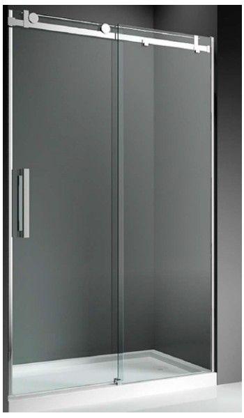 mampara de ducha frontal modelo plenus: 1 fijo + puerta abatible ... - Bano Minusvalidos Puerta Corredera