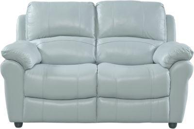 Vercelli Aqua Leather Power Reclining Sofa Leather Sofas