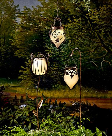 Accent Your Yard Or Garden With The Gentle Glow, Beautiful Shape And  Sophisticated Bronze  · Solar Garden LanternsHanging ...