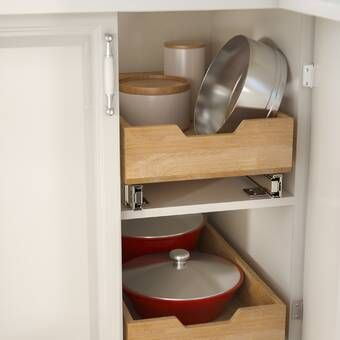 Closetmaid 3 Tier Compact Kitchen Cabinet Pull Out Drawer Reviews Wayfair Pantry Pull Out Drawers Pull Out Drawers Cabinet Organization