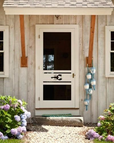 Lobster Cute Out Screen Door Awning Perfect Nantucket Beach House Coastalcottage Buoy Decor Coastal Cottage Coastal Decor