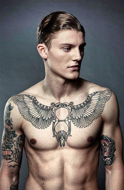 Tumblr Chest Tattoos For Men Amazing Tattoo Ideas Pea Back