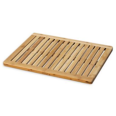 23 75 Inch X 17 75 Inch Bamboo Bath Mat With Images Bamboo