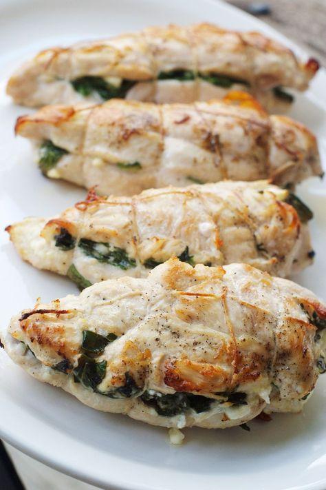spinach, feta, sun dried tomato stuffed chicken