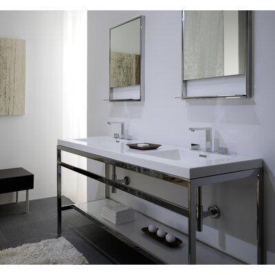 Wetstyle Cube 60 5 Double Bathroom Vanity Base Finish Brushed