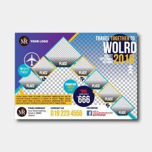Travel Flyer With Modern Design Kreativ My Kreativ Work Solutions Flyer Modern Design Graphic Editing