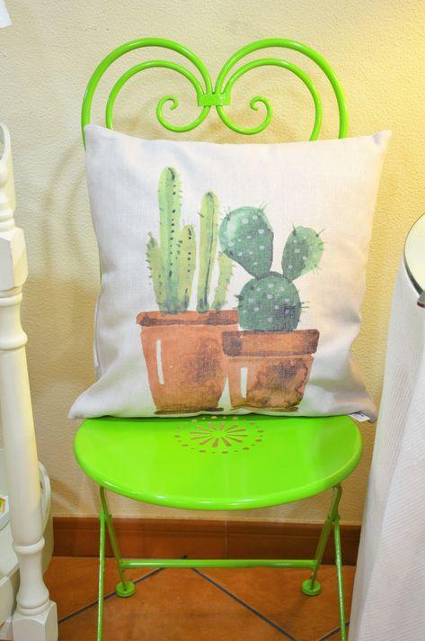 Sillas Jardín Terraza Jardin Sillas Cactus Cojines