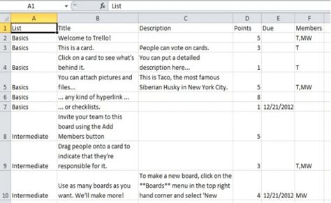How to export Trello boards as Excel files in Chrome Executive - meeting minute format