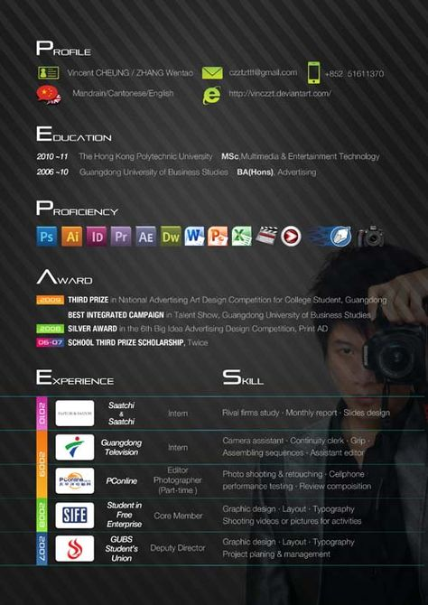 60 More (fresh) Artistic and Unusual Resume Designs for Your - 3d artist resume