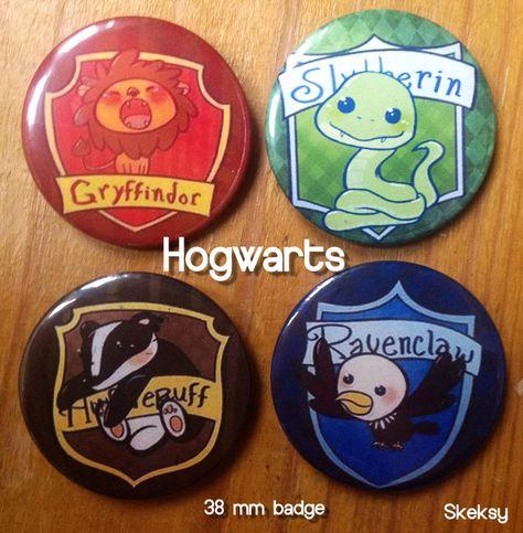 hogwarts houses badges - Google Search