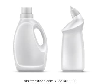 Household Chemicals Blank Plastic Bottles With Handle And Bent Tip