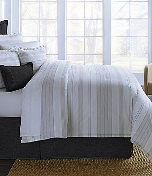 Cremieux Fallon Striped Comforter Mini Set Bedroom Decor Home Decor Bed
