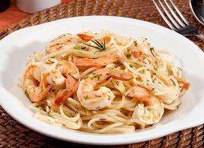 Receta de Espaguetti con camarones y vino blanco en TQMA de