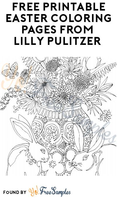 Free Printable Easter Coloring Pages From Lilly Pulitzer Yo Free Samples Easter Coloring Pages Easter Printables Free Easter Coloring Sheets