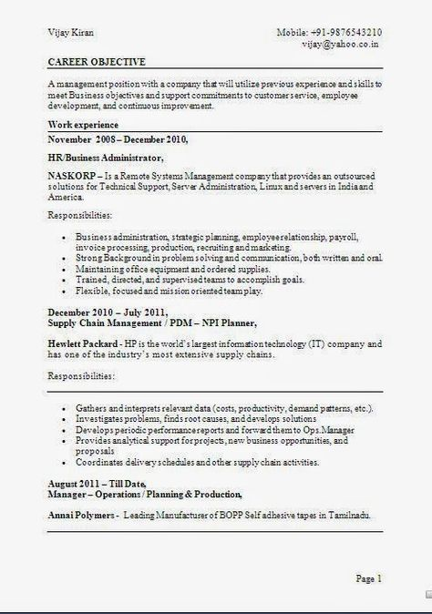 accounting resume samples Sample Template Example ofExcellent - supply chain management job description