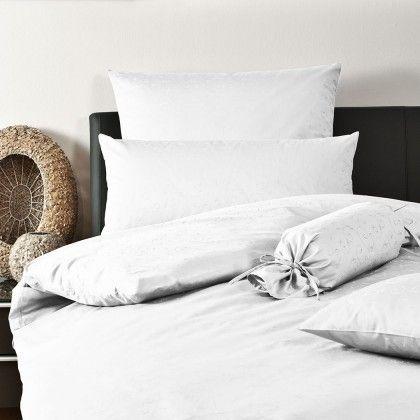 beds #bedlinen Janine Mako-Brokat-Damast Bettwäsche 1321 weiß - flanell fleece bettwasche kalten winterzeit