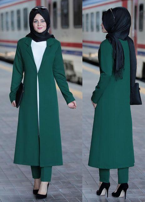 Tesettur Takim Elbise Modelleri 2019 Kadin Giyim Ve Moda Moda Stilleri Kadin Giyim Takim Elbise