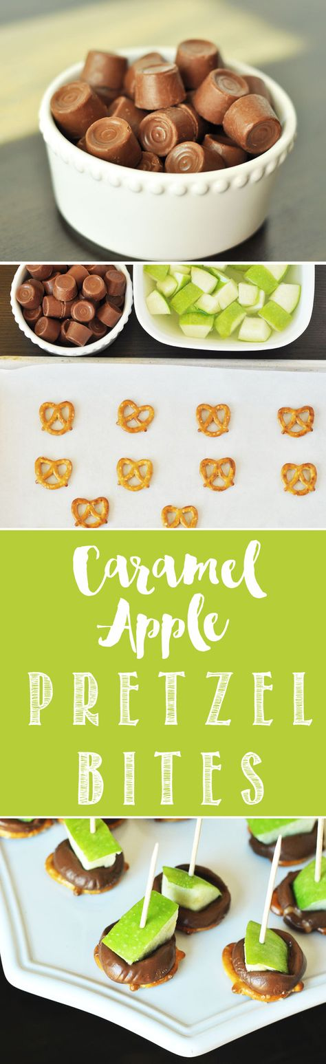Caramel Apple Pretzel Bites. Delicious caramel apples that can be made in just minutes! www.thekusilife.com
