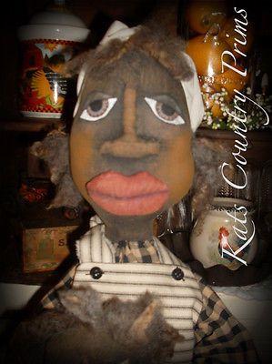 Primitive Black folk art doll and baby Siddalee and Teensie PAPER PATTERN #144