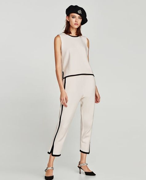 Image 1 of JOGGING TROUSERS WITH SIDE STRIPES from Zara