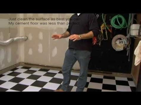 Installing Vinyl Floor Tile On Cement Garage Floor Basement