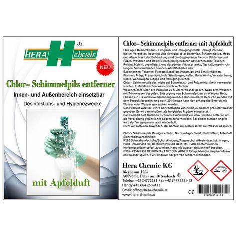 Chlor– Schimmelpilz entferner mit Apfelduft