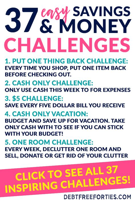 37 Easy Money Savings Challenge for 2021 - Debt Free Forties
