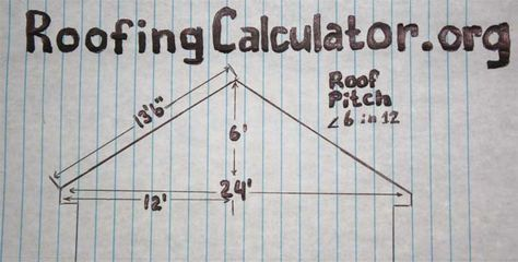 How To Calculate Roof Pitch Pitched Roof Roofing Roofing Calculator