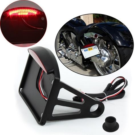 Compare Prices Hot Sale Black Led Side Mount License Plate