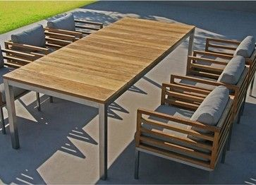 Recycled Teak Outdoor Dining Table And Chairs   Outdoor Tables   Chicago    Home Infatuation | Outdoor Spaces | Pinterest | Outdoor Dining, Teak And  Tables