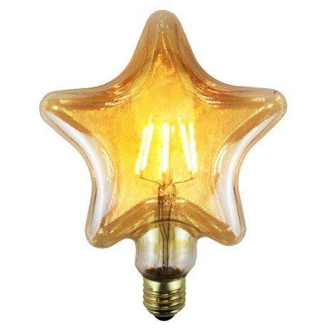 Ampoule Filament Led Etoile E27 4w 380lm Equiv 35w 2700k Led Ampoule Led Ampoule