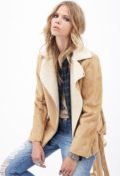 Style Manteau En 21 Veste Daim Pinterest Forever wFIxqRTWF