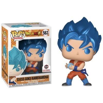 Funko Pop Dragon Ball Z Metallic Ssgss Goku 563 Chalice Collectibles Exclusive Funko Pop Anime Funko Pop Exclusives Vinyl Figures