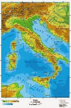 Foto Della Cartina Fisica Dell Italia.Pinterest Pinterest