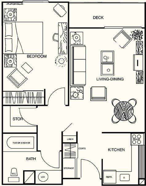 1 Bedroom House Plans | Floor Plans Madison House