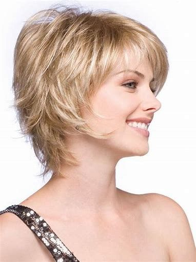 Image Result For Short Hair Feathered Layered Hairstyles Short Blonde Haircuts Short Shag Hairstyles Short Hair Styles