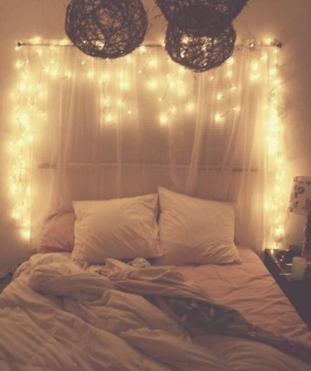 20 Easy Ways To Revamp Your Boring Room Into A Cozy Paradise With Fairy Lights Cosy Bedroom Romantic Fairy Lights Bedroom Headboard With Lights