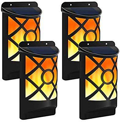 Solar Flame Lights Outdoor Aityvert Waterproof Flickering Flame Solar Lights Dark Sensor Auto On Off Solar Wall Lights Outdoor Wall Lighting Outdoor Lighting