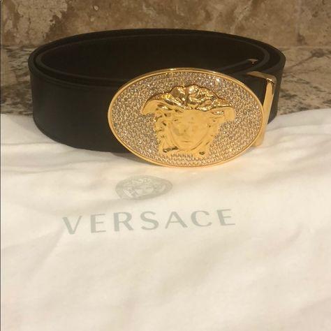 31c9cf705d73f Men s Versace Belt 100% Authentic. Never worn. Gold Medusa Emblem. Great  condition. Versace Accessories Belts