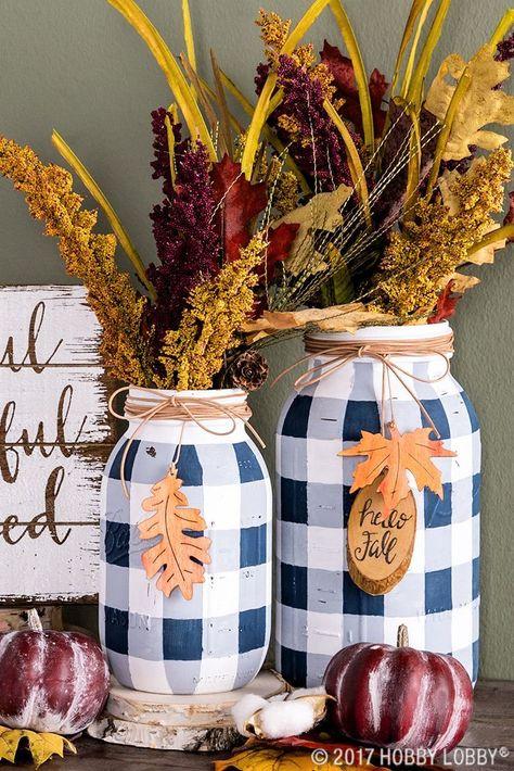+ 17 Trends you need to know dollar tree fall decor ideas diy 2018 Fall Mason Jars, Mason Jar Vases, Mason Jar Lighting, Painted Mason Jars, Mason Jar Diy, Paint For Mason Jars, Diy Mason Jar Lights, Painted Bottles, Mason Jar Projects