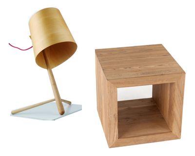 Zen 5 Table De Chevet Adentro Verre TrempÉ / Placage ChÊne WengÉ ...