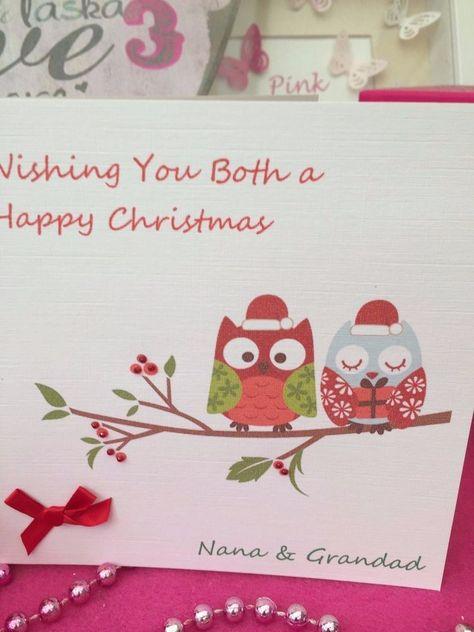 Mum Nana Christmas card Personalised Christmas card Special Christmas MUM NANA