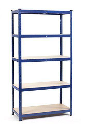 180cm Heavy Duty Metal Garage Shelving Unit Shed Storage Shelves Boltless Rack
