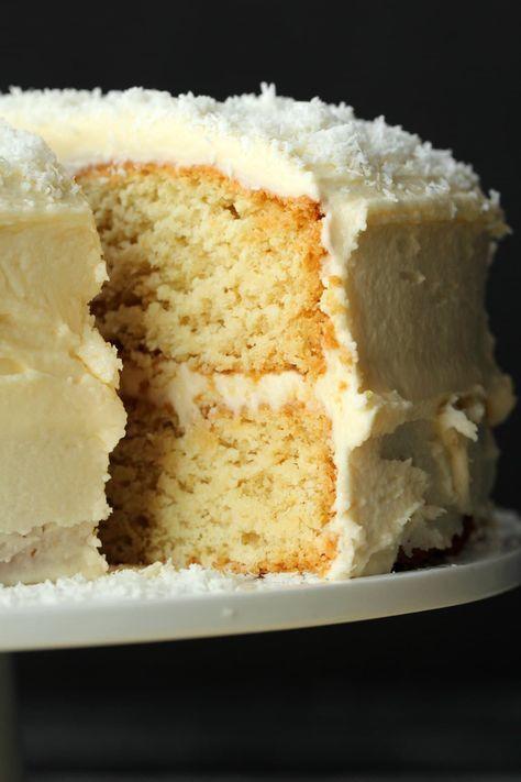 Vegan Coconut Cake Vegan Coconut Cake Coconut Cake Recipe Vegan Cake Recipes