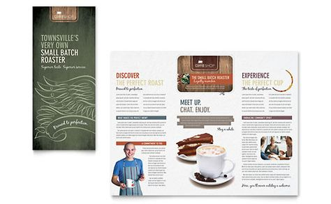 Brochure template Editorial Design \ Layout Pinterest - coffee shop brochure template