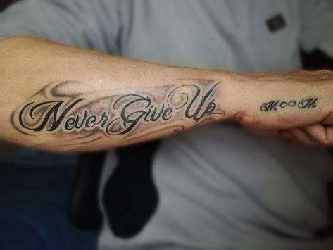 #nevergiveup #Never #Give #Up & #M #∞ #M  Initial of my name and of my son's name